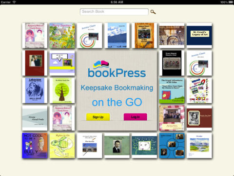 bookPress - Best Book Creator to make your own printable children's book, storybook, family cookbook, photo book, yearbook and class cook for iPad-1