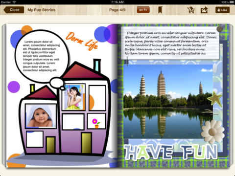 bookPress - Best Book Creator to make your own printable children's book, storybook, family cookbook, photo book, yearbook and class cook for iPad-5