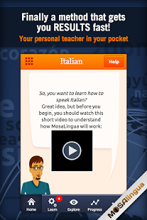 Learn Italian with MosaLingua