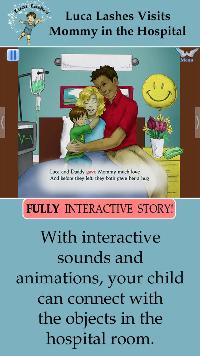 Luca Lashes Visits Mommy in the Hospital. App - 2