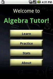 Algebra Tutor App - 1