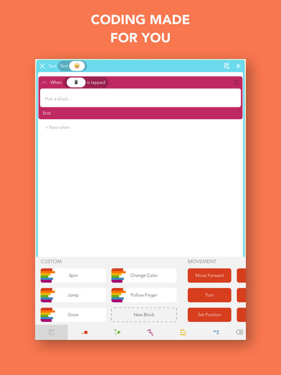 Hopscotch: Coding for kids, a visual programming language App - 2