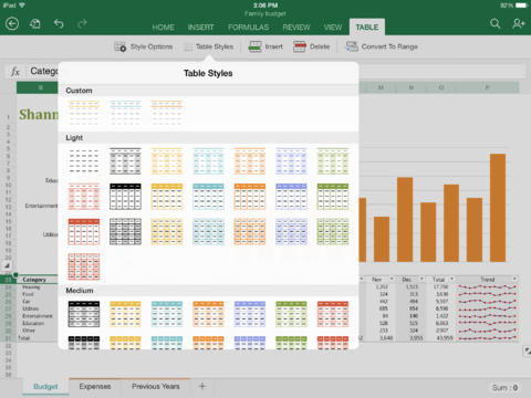 Microsoft Excel for iPad-5