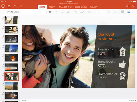 Microsoft PowerPoint for iPad-1