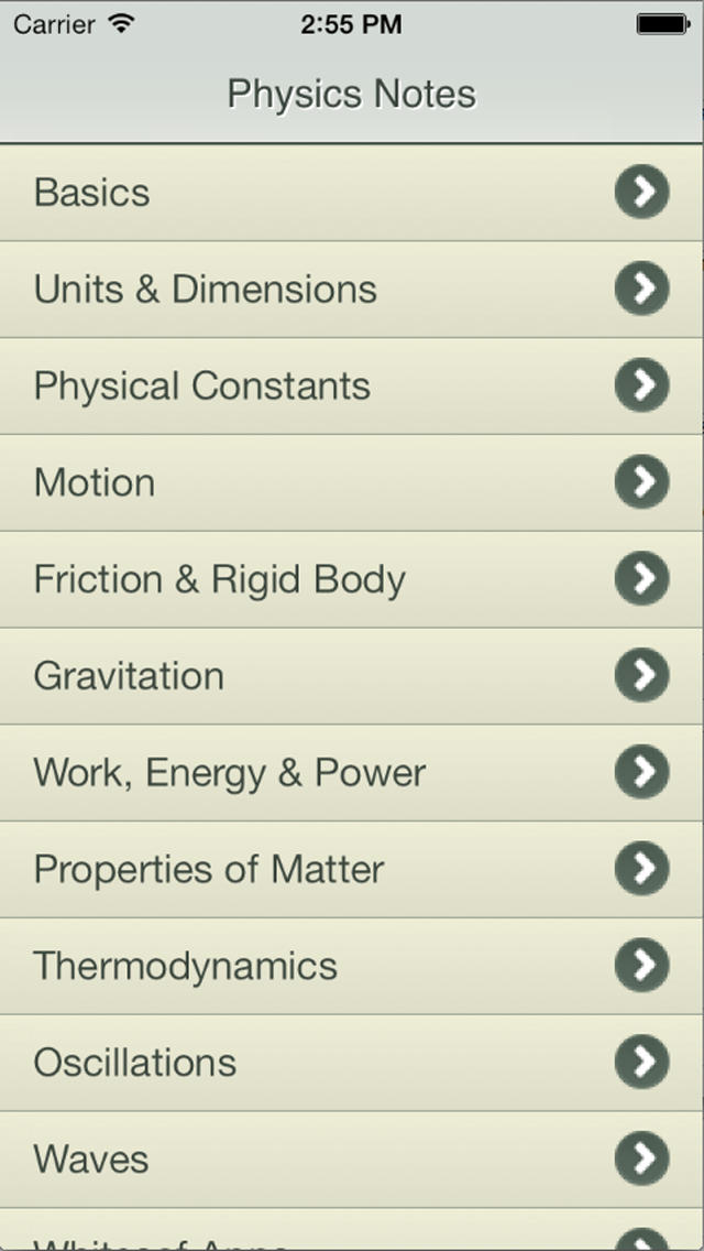 Physics Notes App - 1