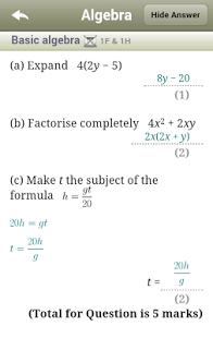 Maths GCSE Revision -Edexcel-9