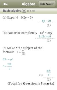 Maths GCSE Revision -Edexcel App - 9