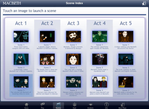 Shakespeare In Bits: Macbeth iPad Edition-2