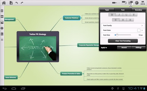Mindomo (mind mapping) App - 2
