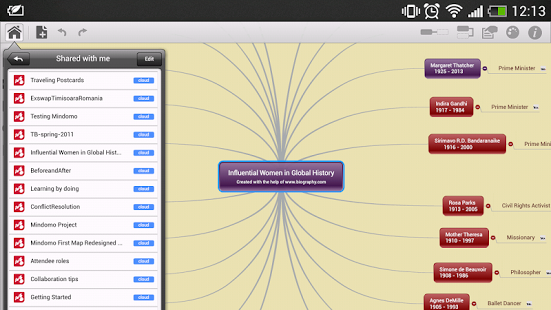 Mindomo (mind mapping) App - 9