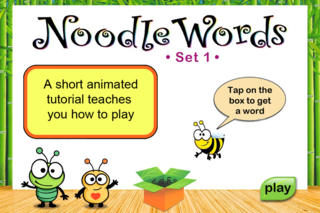 Noodle Words HD - Action Set 1 App - 1