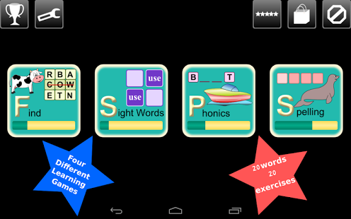 First Grade Kids Words Lite App - 1