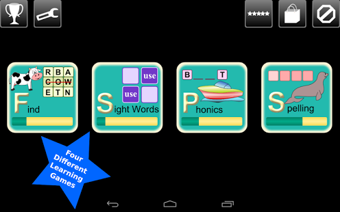 First Grade Kids Words Lite App - 2