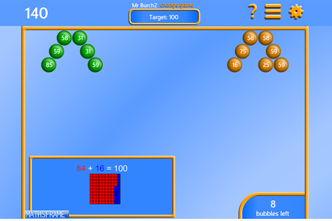 Bubble Pop Number Bonds App - 10