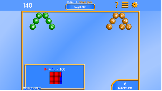 Bubble Pop Number Bonds App - 15