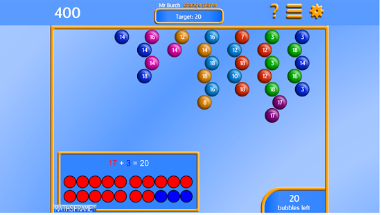 Bubble Pop Number Bonds App - 20