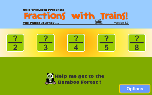 Fractions with Trains App - 1