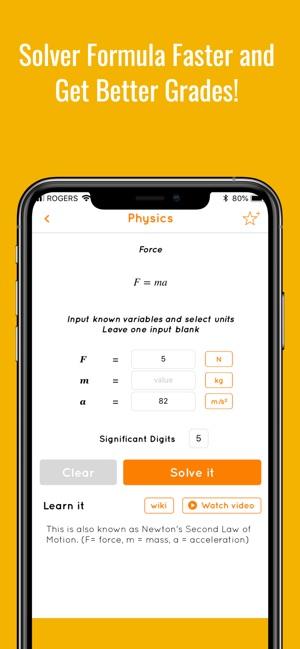Equate Formula Solver App - 1
