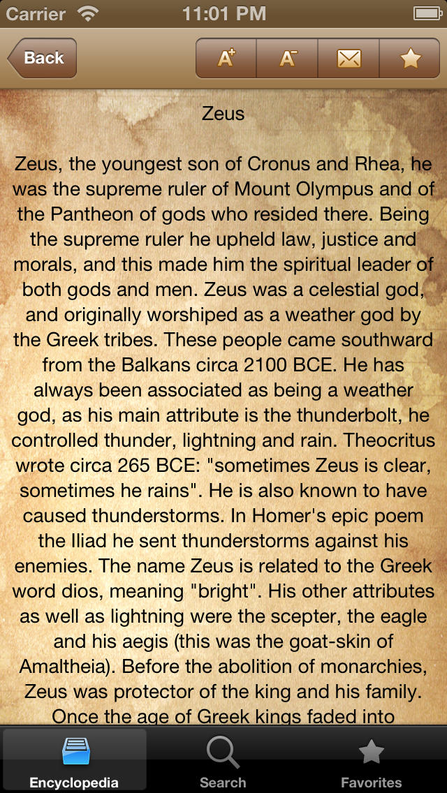 Mythology & Trivia App - 2