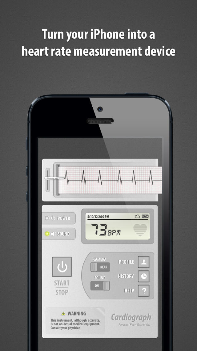 Cardiograph: Heart Rate Pulse Measurement -1