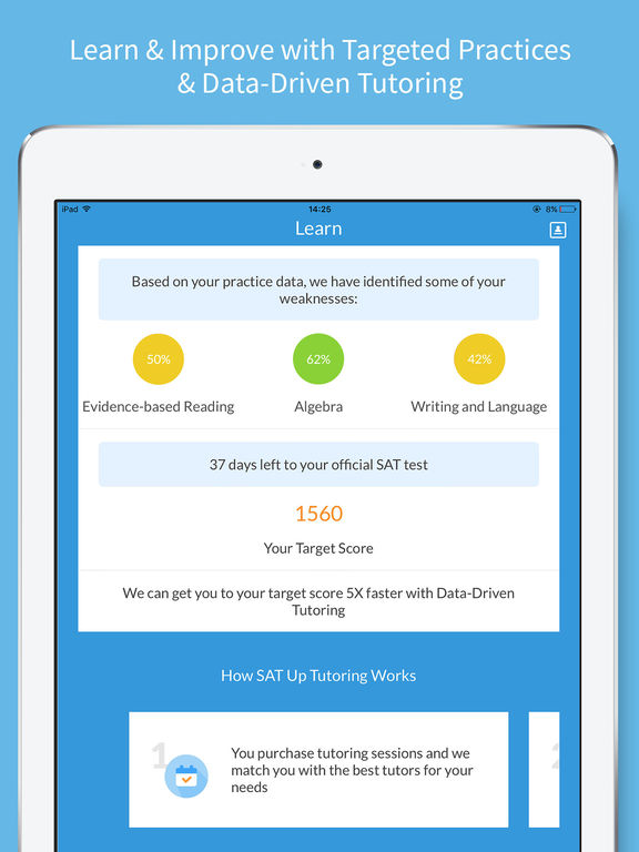 SAT Up - New SAT Test Prep and Tutoring App - 4