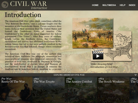 Civil War Interactive App - 1