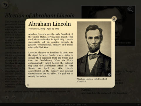 Civil War Interactive App - 3