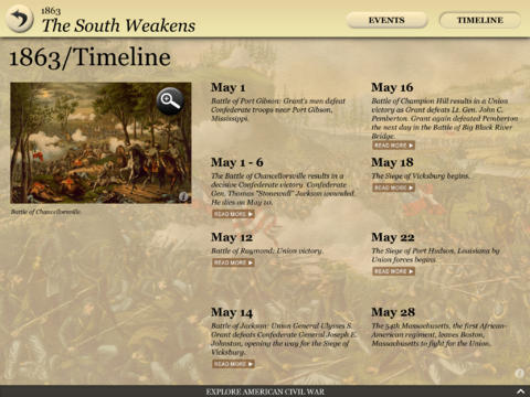 Civil War Interactive App - 4