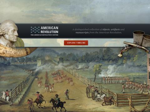 American Revolution Interactive Timeline for iPad App - 1