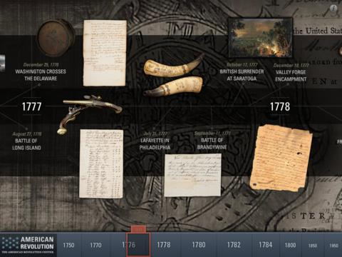 American Revolution Interactive Timeline for iPad-2