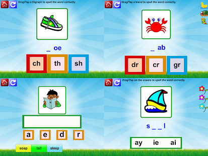 First Grade Phonic Reading Fun App - 2