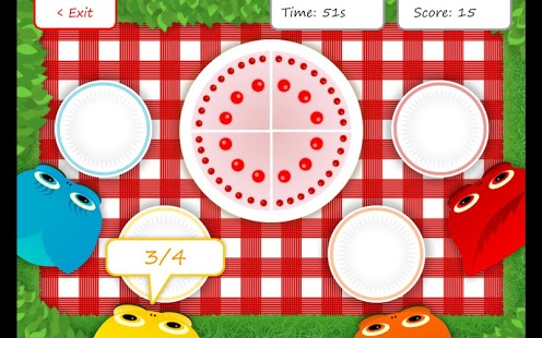 Squeebles Fractions App - 1