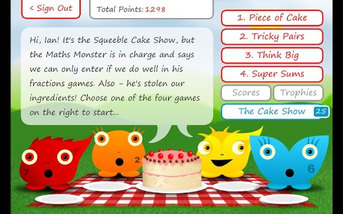 Squeebles Fractions App - 2