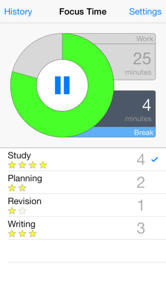 Focus Time - Activity Tracker & Pomodoro Timer