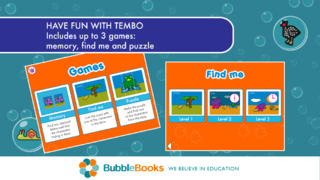 Interactive book for children. Memory & Puzzle games.-5