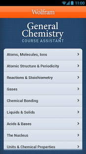 General Chemistry Course App