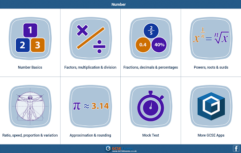 GCSE Maths : Number Revision App - 1