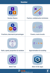 GCSE Maths : Number Revision App - 20