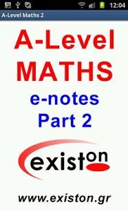 A-Level Mathematics (Part 2)-1