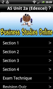 AS Business Unit 2a (Edexcel)