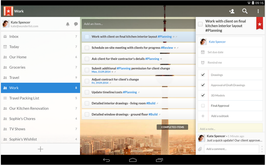 Wunderlist for Education App - 2