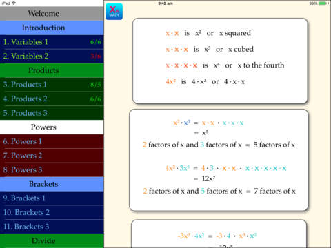 Algebra Start
