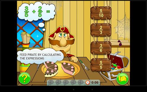 Fractions. Elementary Math App - 3