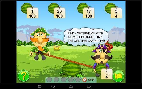 Fractions. Elementary Math App - 6