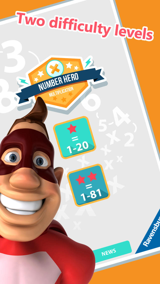 Number Hero: Multiplication - An Exciting Numbers Game App - 2