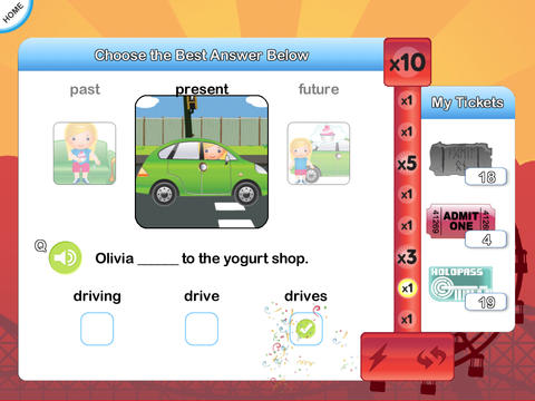 InTense Home - Verb Practise for Kids App - 2