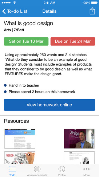 my homework iphone app help