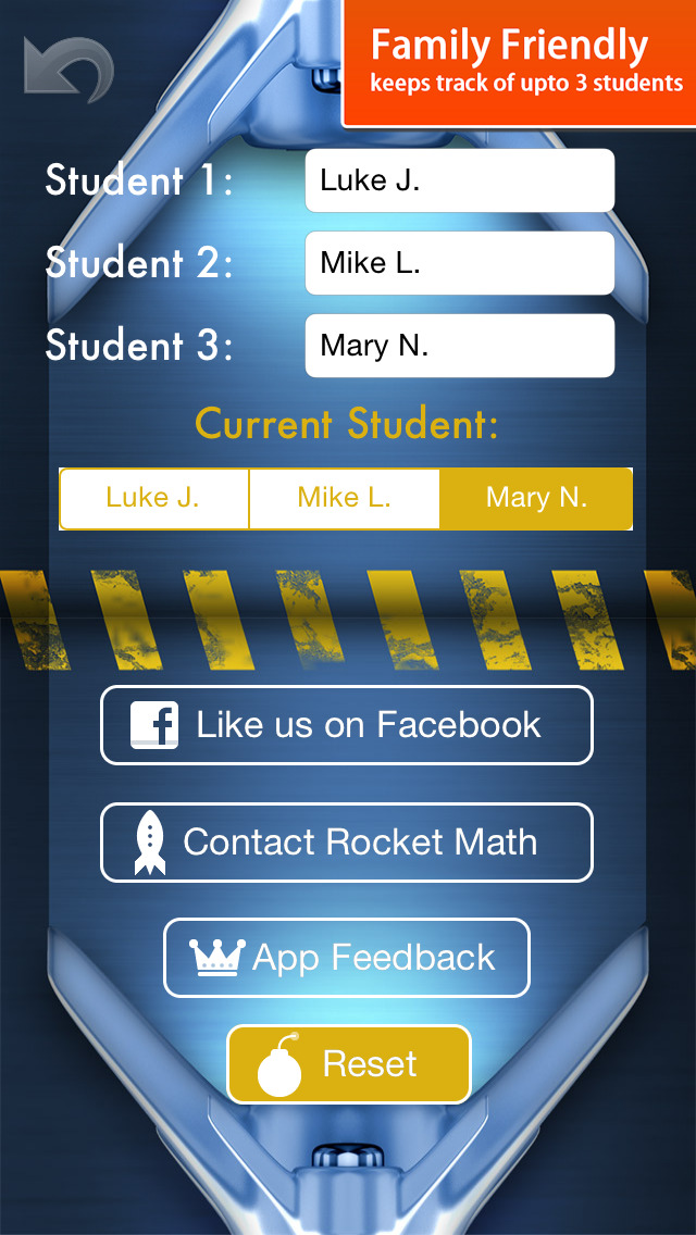 Rocket Math - Basic Math Facts Fun Learning Game for elementary kids grades kindergarten to 5th App - 5