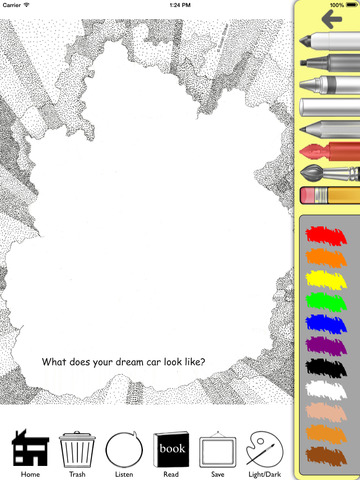 The Anti-Coloring Book App