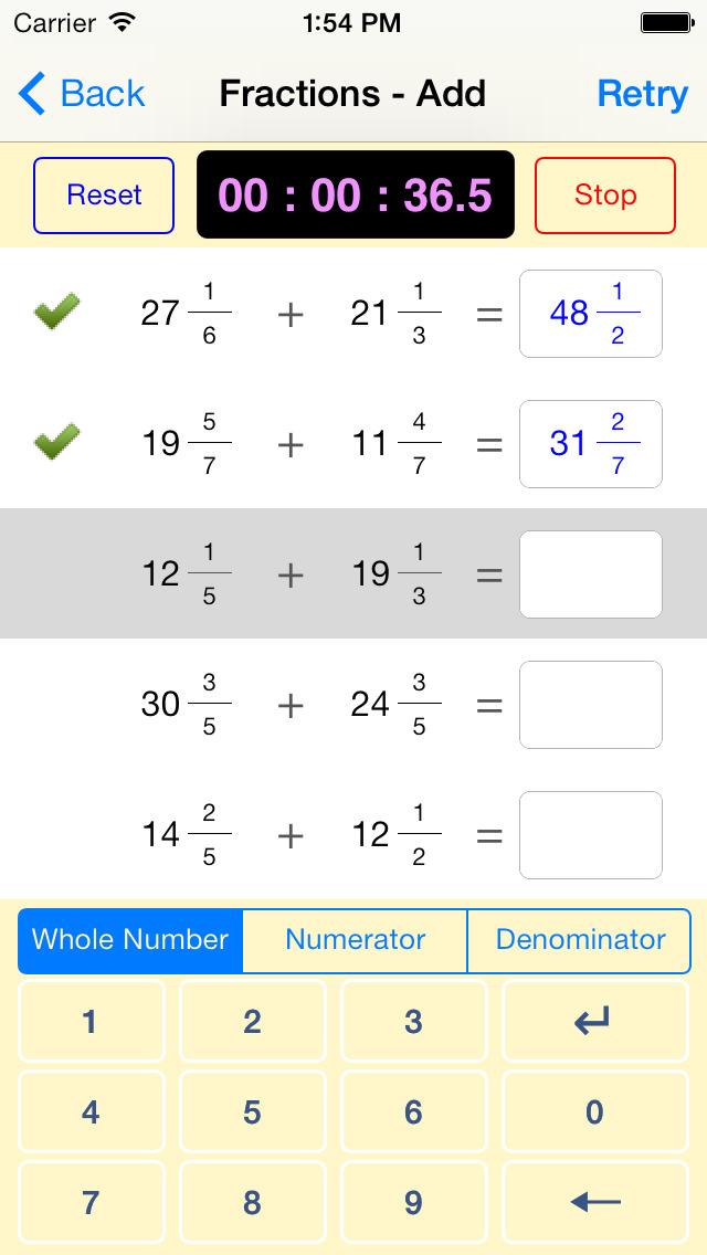 Maths, Age 11-14 App - 2
